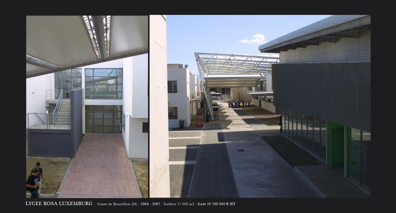 Architecte montpellier enseignement lyc e luxemburg for Architecte montpellier