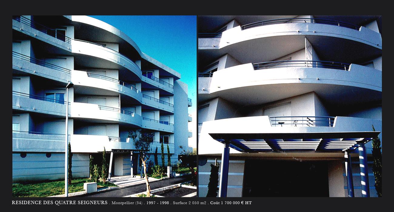 Architecte montpellier logements residence des 4 for Architecte montpellier