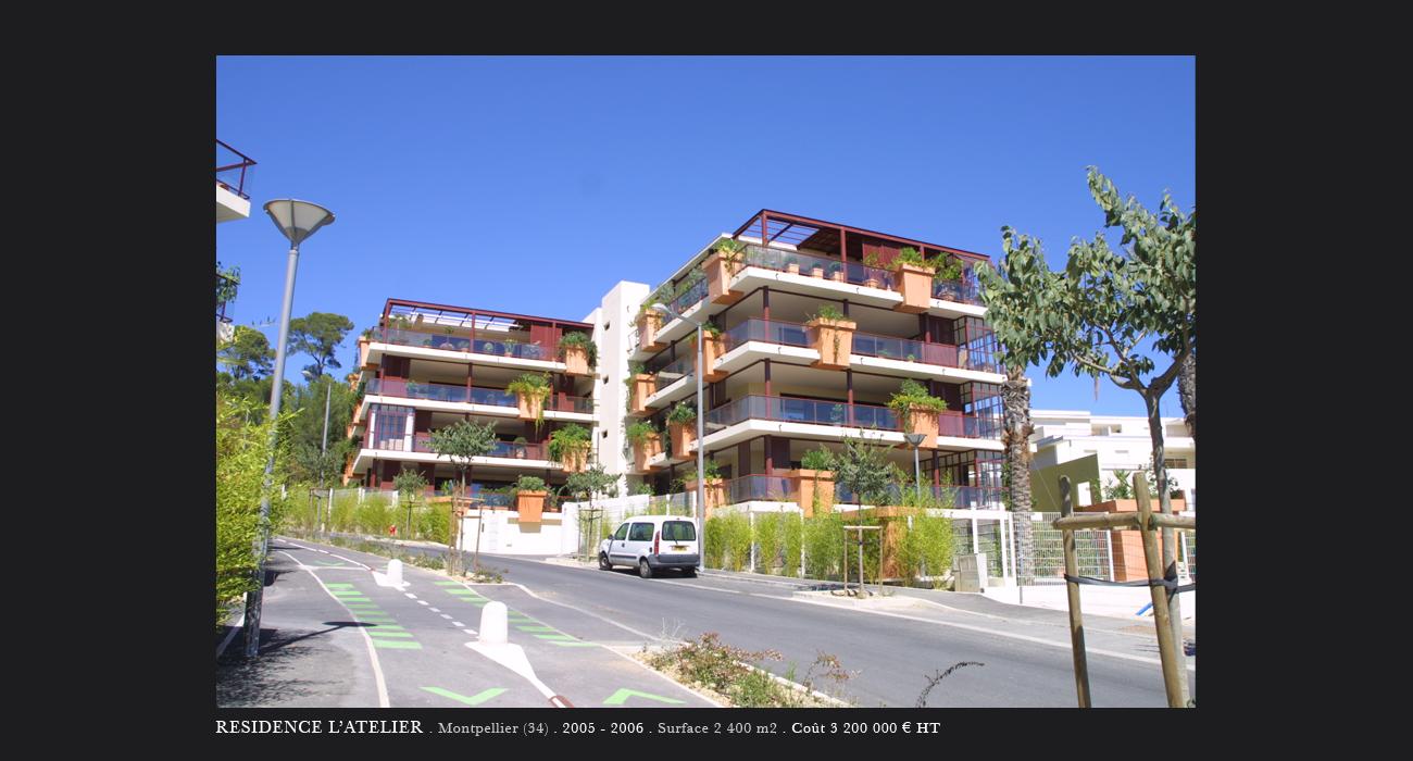 Architecte montpellier logements residence l 39 atelier for Architecte montpellier