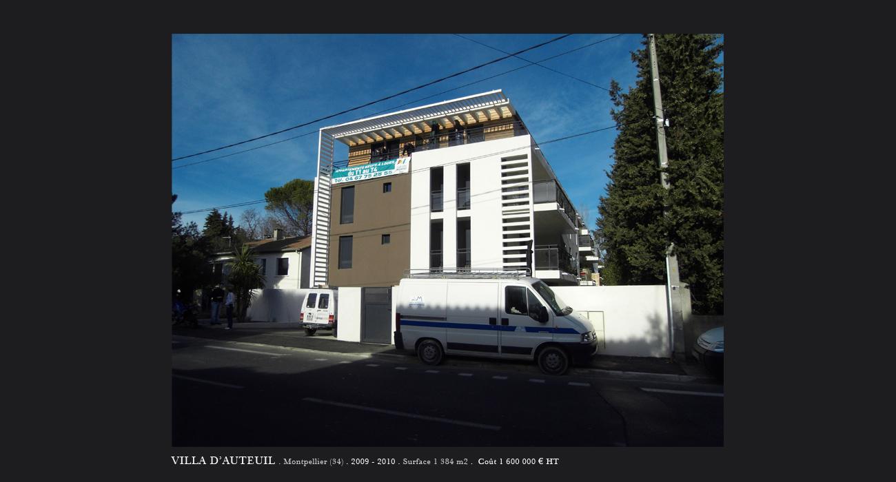 architecte montpellier logements villa d 39 auteuil montpellier. Black Bedroom Furniture Sets. Home Design Ideas