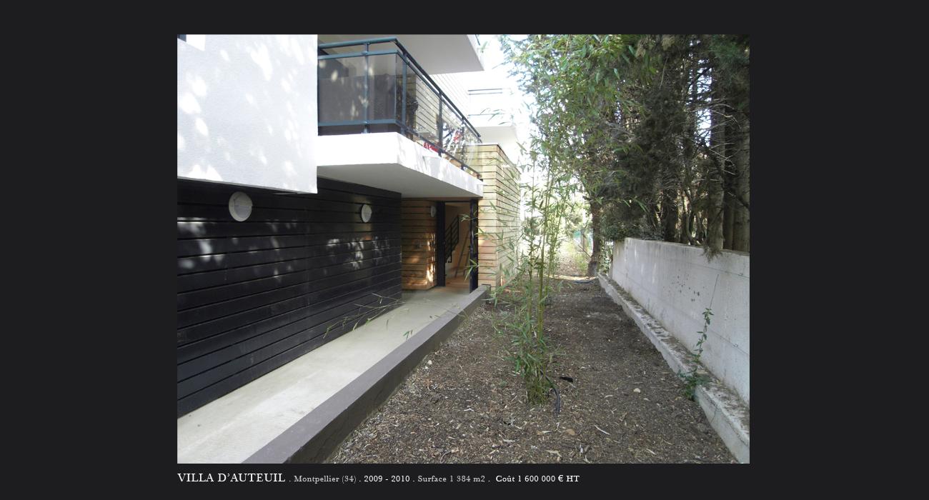 Architecte montpellier logements villa d 39 auteuil for Architecte montpellier