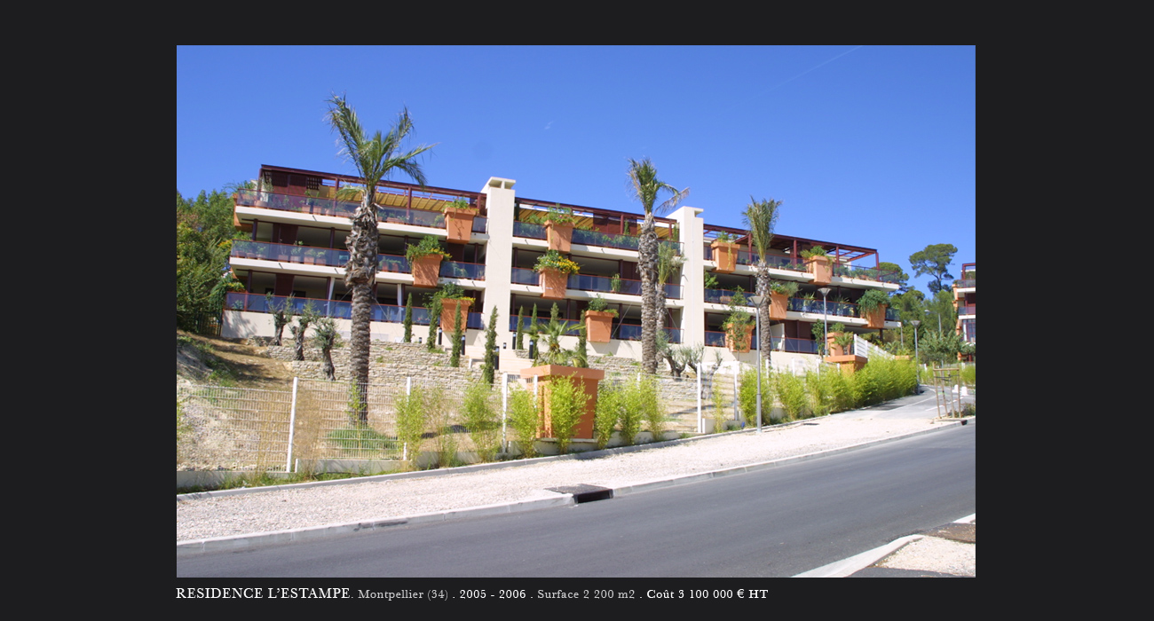 architecte montpellier logements residence l 39 estampe montpellier. Black Bedroom Furniture Sets. Home Design Ideas