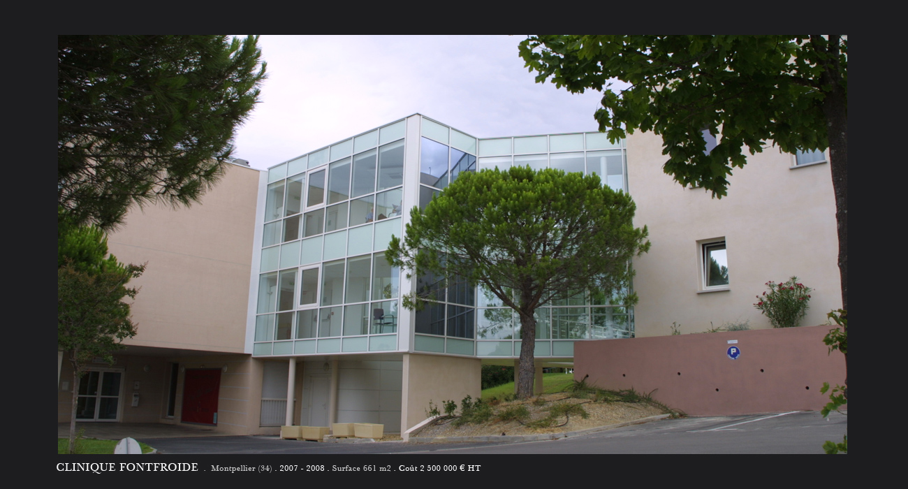 Architecte montpellier sant clinique fontfroide for Architecte montpellier