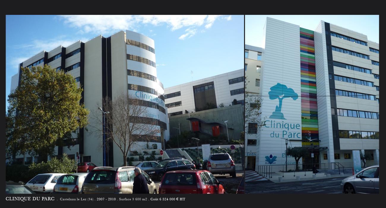 Architecte montpellier sant clinique du parc bio endo for Architecte montpellier
