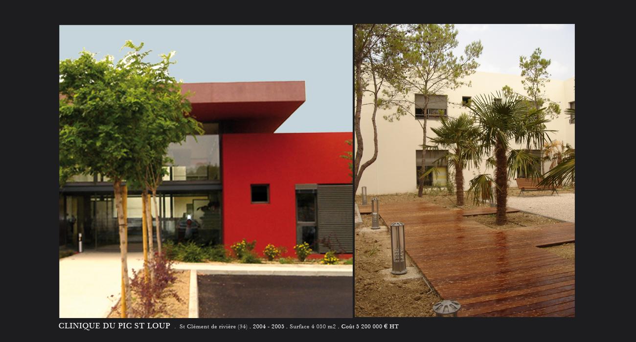 architecte montpellier sant clinique du pic st loup st cl ment de rivi re. Black Bedroom Furniture Sets. Home Design Ideas