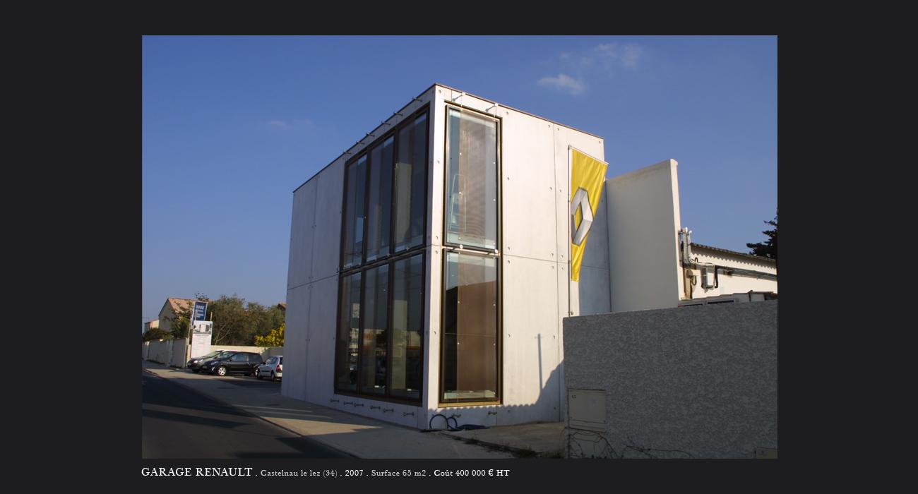 architecte montpellier tertiaire garage renault castelnau le lez. Black Bedroom Furniture Sets. Home Design Ideas